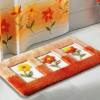 Çiçekli en yeni banyo halı tasarımları
