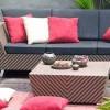 Çizgili bahçe mobilya tasarımları