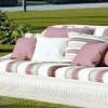 Desenli kumaş bahçe mobilya tasarımları