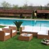 Köşeli bahçe mobilya tasarımları