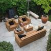 Kare bahçe mobilya takım örnekleri