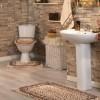 Krem rengi en yeni banyo halı örnekleri