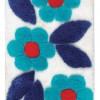 Mavi çiçek desenli en yeni banyo halı tasarımları