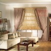 Salon perdesi pembe renkli tasarımlar