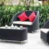 Siyah bahçe mobilya örnekleri