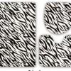 Zebra desenli en yeni banyo halı tasarımları