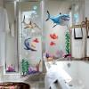 balıklı duşakabin sticker