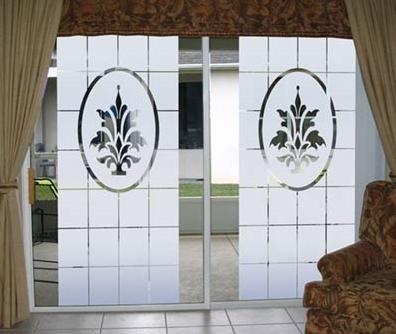 beyaz desenli sürgülü kapı