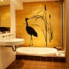 resimli banyo sticker modeli
