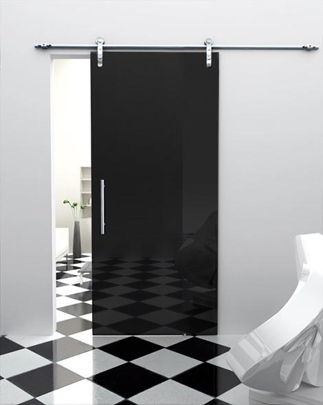 siyah cam kapı