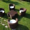 Dört kişilik tepe home bahçe mobilya örnekleri