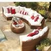 Köşe bambu tepe home bahçe mobilya tasarımları