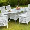 camlı oval bahçe masası