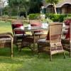 oval bahçe masası
