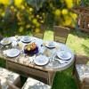 oval bahçe masası takımı