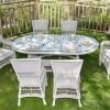 oval beyaz bahçe masası