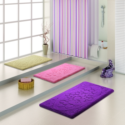 renkli banyo halıları