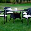 siyah istikbal bahçe masası