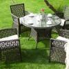 yuvarlak bahçe mobilyaları