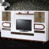 Ahşap ayaklı cetmen tv ünite tasarımlı