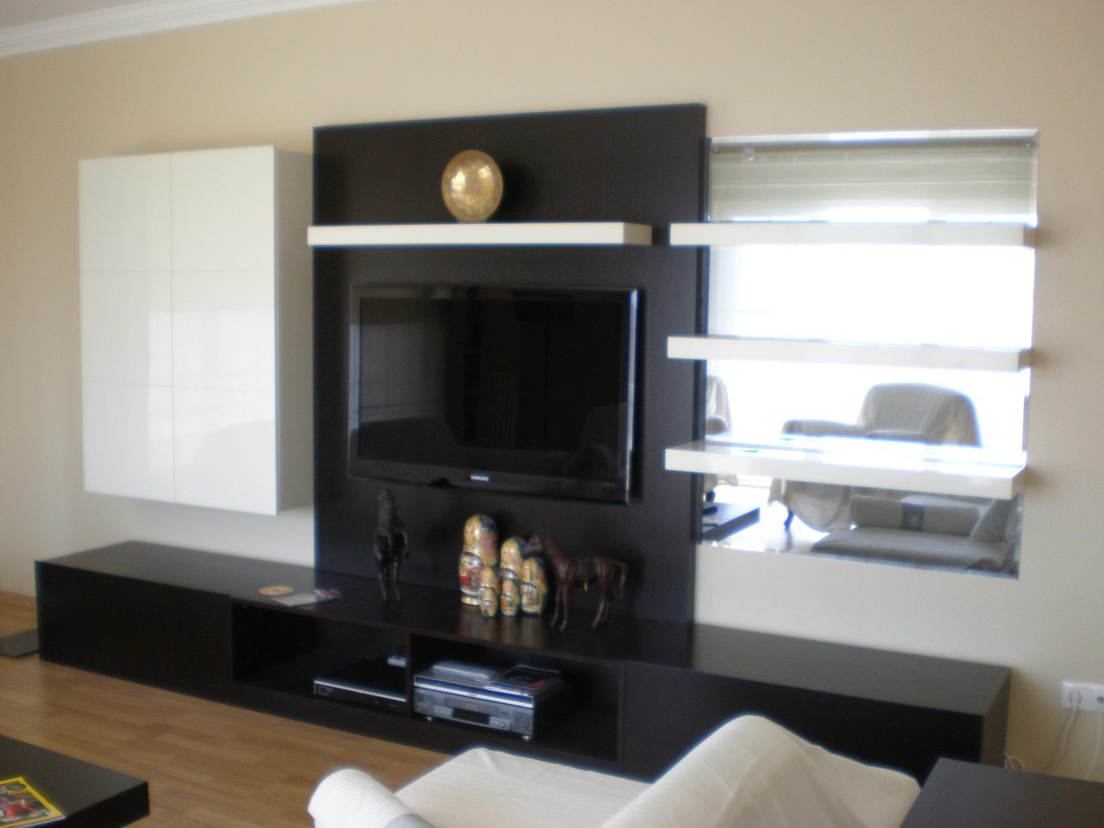 Aynalı divan mobilya tv ünite tasarımları