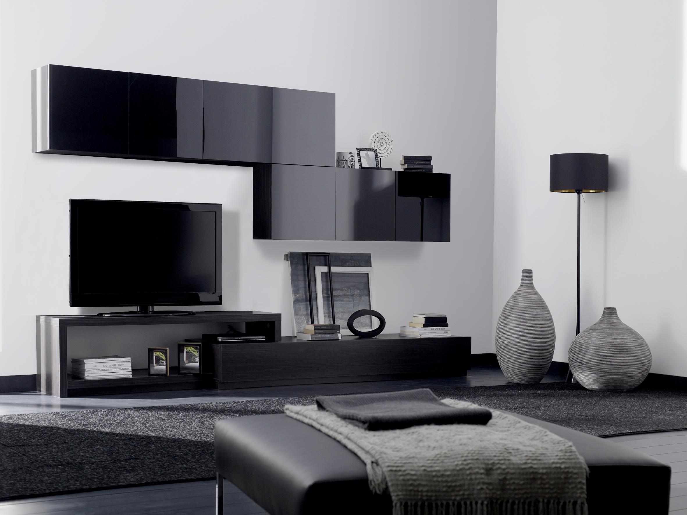 Dolaplı divan mobilya tv ünite tasarımları