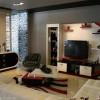 Kırmızı siyah divan mobilya tv ünite tasarımları