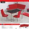 kırmızı mutfak köşe takımı