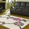 çiçekli shaggy halı