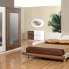 İki renkli lake mobilya yatak odası tasarımları