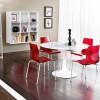 Şeffaf kırmızı sandalye tasarımlı masko masa sandalye örnekleri
