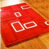Açık kırmızı desenli halı tasarımları