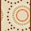 Açık renk şık tasarım kesme halı örnekleri