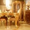 Altın varaklı masko yemek odası tasarımları