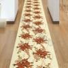 Büyük çiçekli şık kesme halı tasarımları