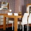 Beyaz ahşap uyumlu masko yemek odası tasarımları