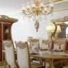 Beyaz kırmızı tasarımlı masko yemek odası örnekleri