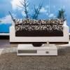 Beyaz kasalı desenli yastık tasarımlı modalife koltuk takımı örnekleri