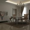 Gümüş oymalı beyaz avangart masko yemek odası tasarımları