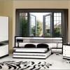 Küçük desenli lake mobilya yatak odası tasarımları