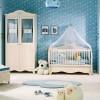 Kırık beyaz şirin modoko bebek odası takımları