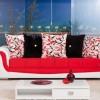 Kırmızı beyaz çiçek desenli şık modalife koltuk takımı örnekleri