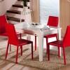 Kırmızı beyaz modern masko masa sandalye örnekleri