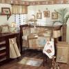 Koyu kahve ahşap bej uyku seti uyumlu masko bebek odası tasarımları