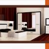 Modern siyah beyaz tasarım modoko yatak odası örnekleri