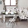 Mutfak için köşe şeklinde çiçek desenli masko masa sandalye örnekleri