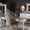 Oymalı avangart desenli sandalye masko yemek odası tasarımları
