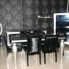 Parlak siyah lake avangart yemek odası tasarımları