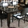 Parlak siyah masko masa sandalye örnekleri