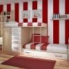 Ranzalı ahşap modoko genç odası tasarımları